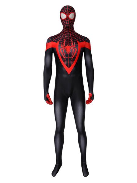 Milanoo Marvel Comics Ultimate Spiderman Costume Miles Morales Marvel Comics Superhero Cosplay Catsuits