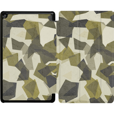 Amazon Fire HD 8 (2018) Tablet Smart Case - Geometric Camo Green von caseable Designs