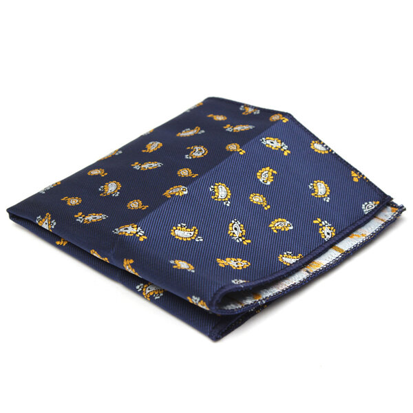 Men Pocket Square Hankerchief Korean Silk Paisley Dot Floral Hanky