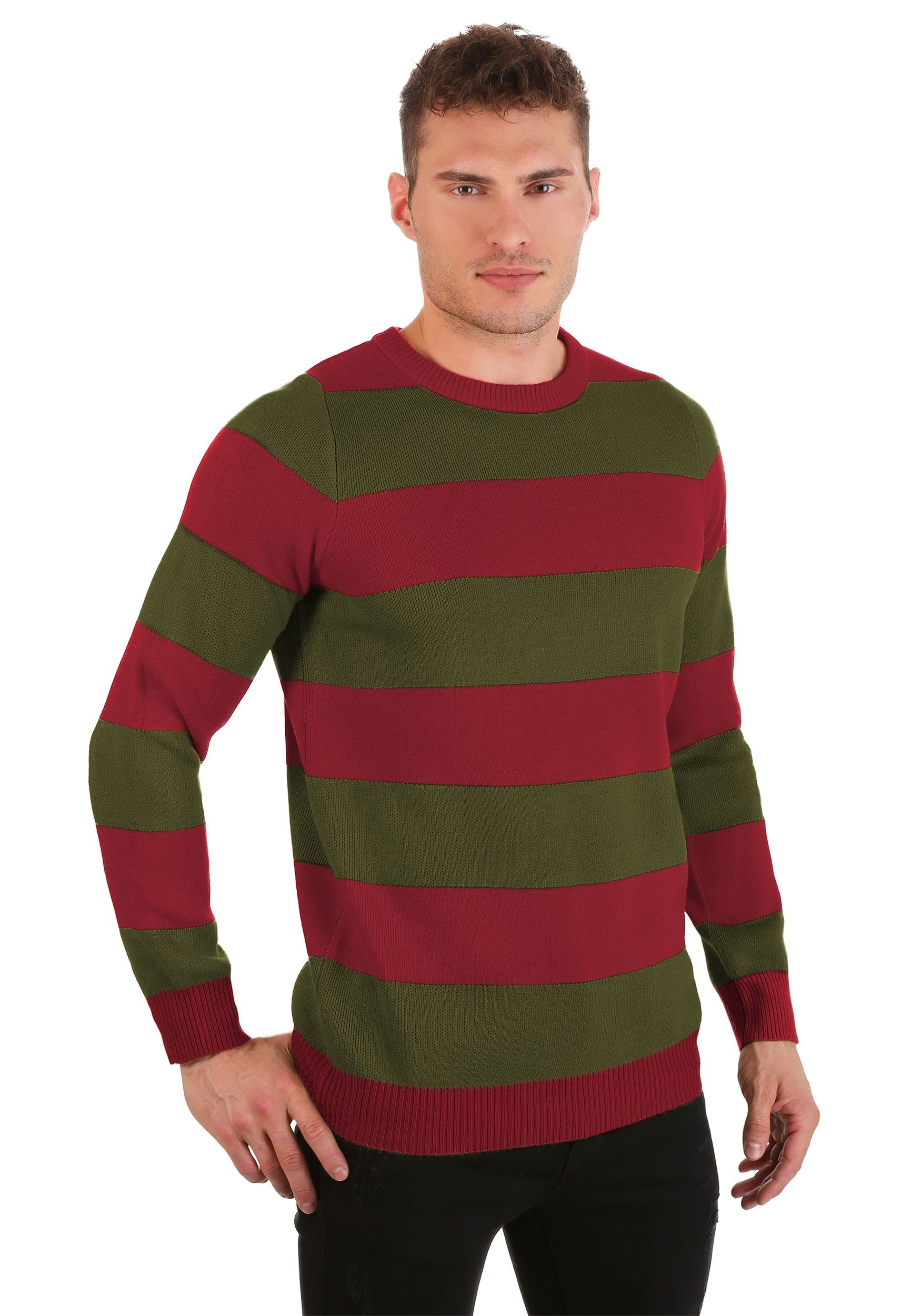 Striped Nightmare on Elm Street Freddy Sweater for Adults