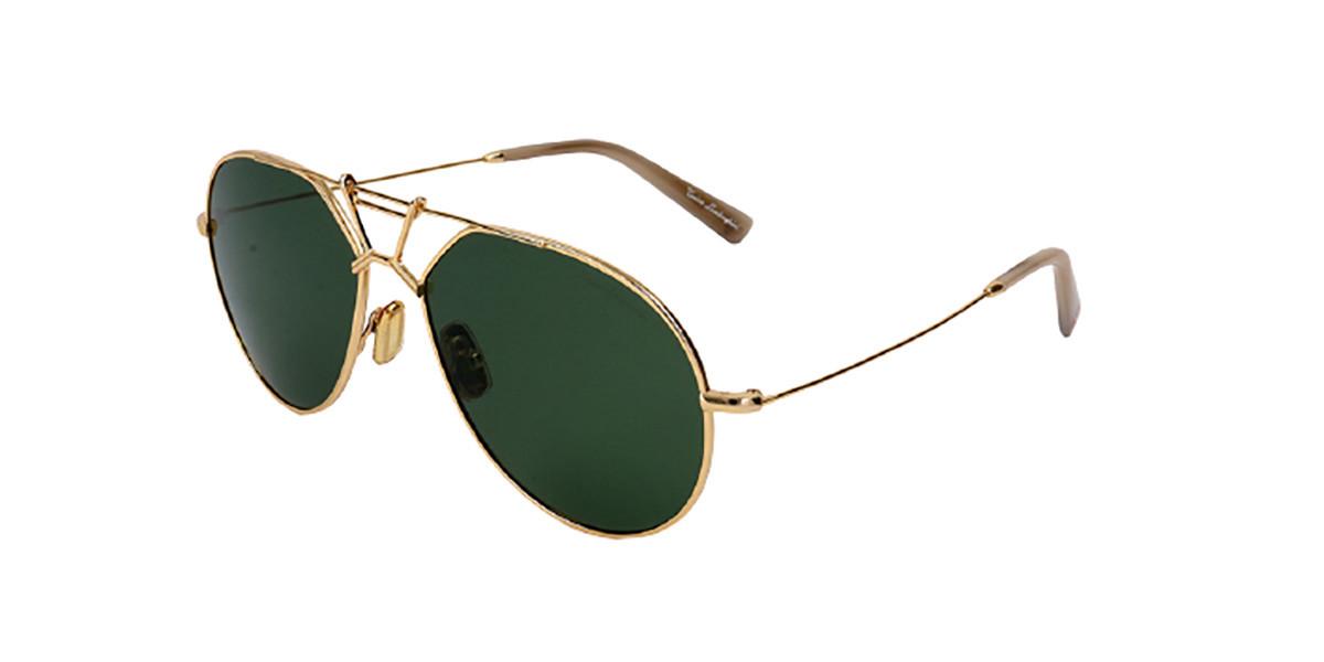 Tonino Lamborghini TL910S S01 Mens Sunglasses Gold Size 58