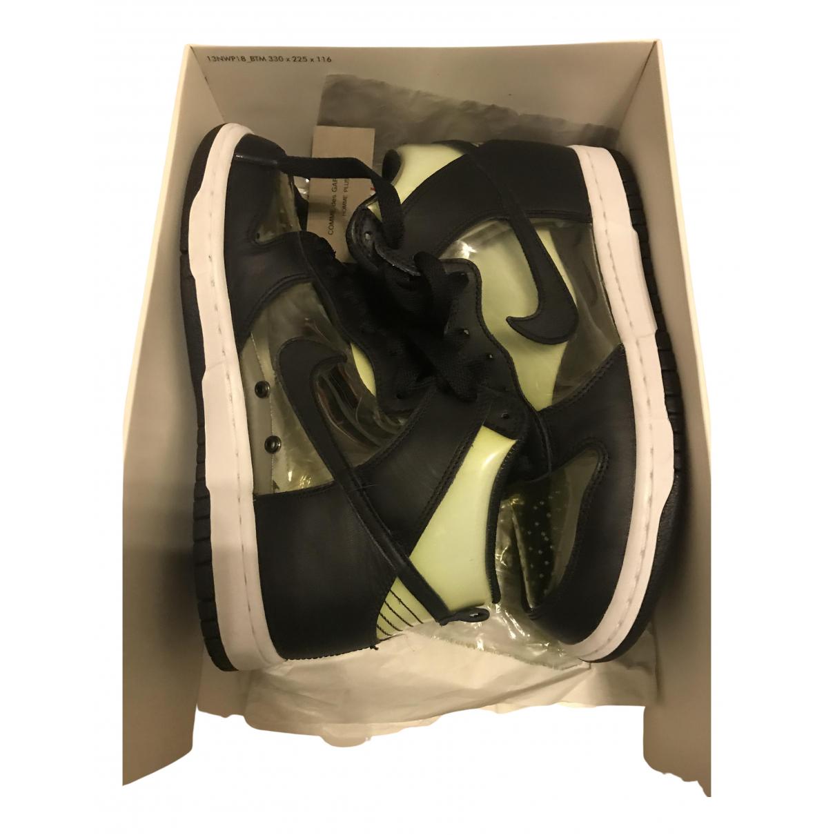 Nike X Comme Des Garcons - Baskets Dunk High pour homme - noir