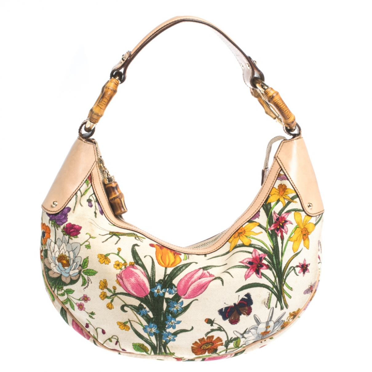 Gucci Bamboo Handtasche in  Bunt Leder