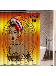 Mildew Resistant Girl Pattern Waterproof Bathroom Shower Curtain
