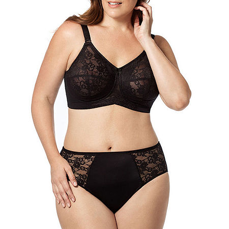 Elila Lace & Microfiber Panty, 4x , Black