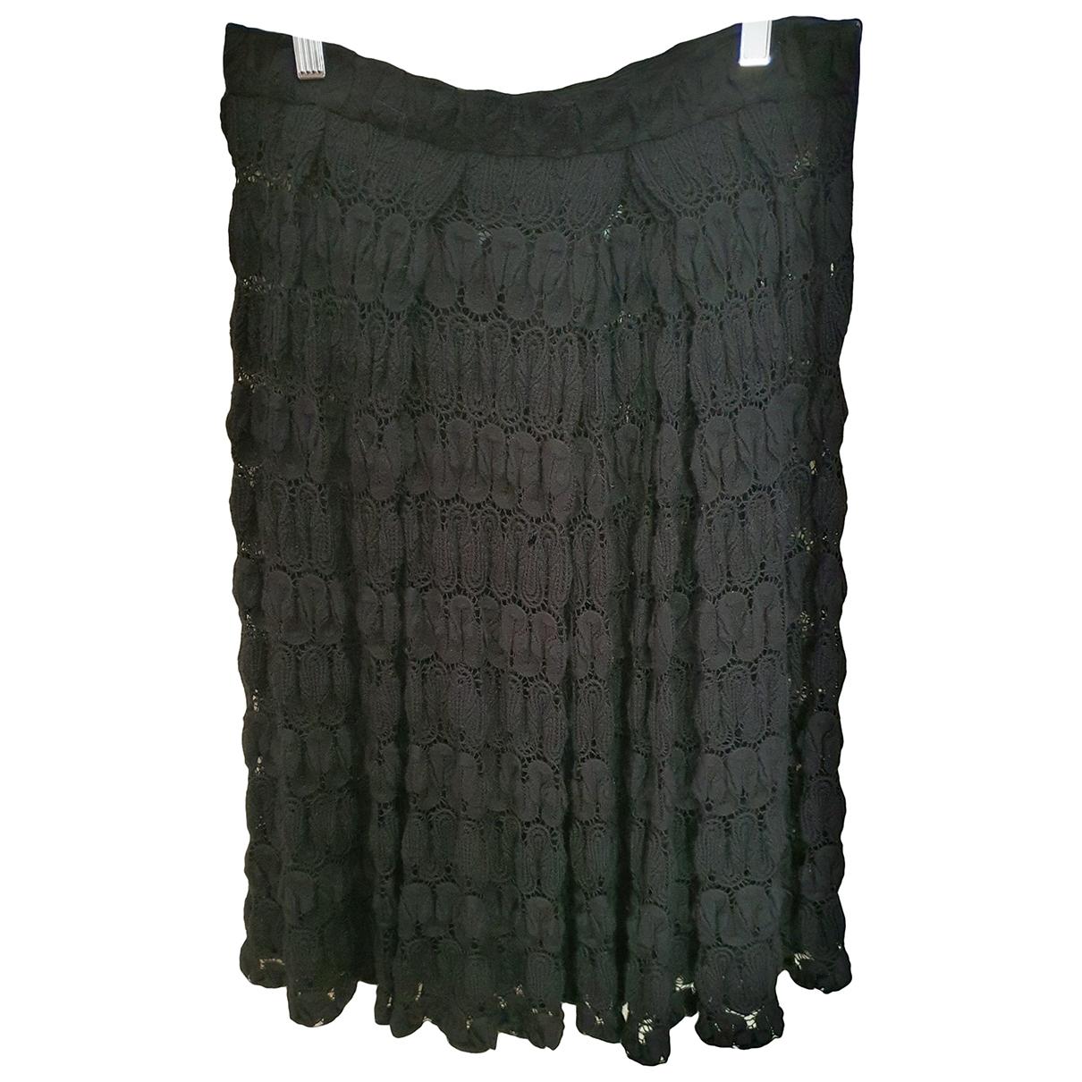 Dries Van Noten \N Black Wool skirt for Women 38 IT