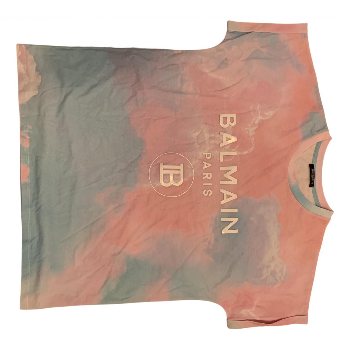 Balmain \N Multicolour Cotton T-shirts for Men S International