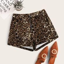 Shorts mit Reissverschluss