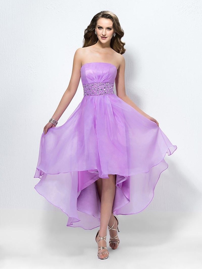 Charming Elegant Strapless Beading Zipper-Up Cocktail Dress