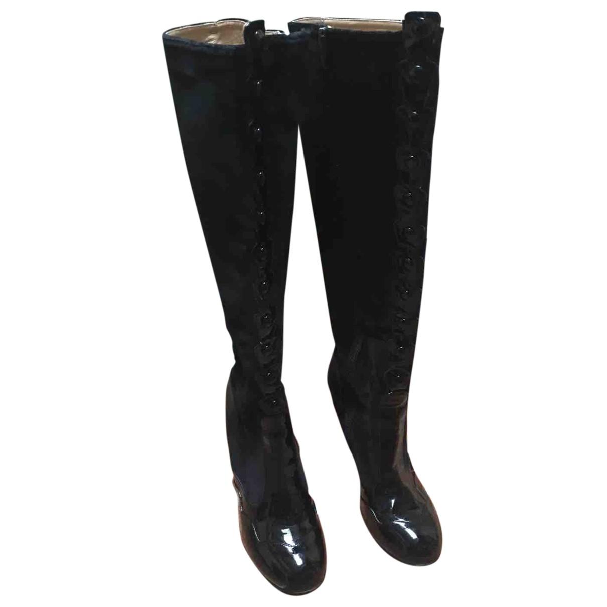 Galliano \N Black Suede Boots for Women 38 EU