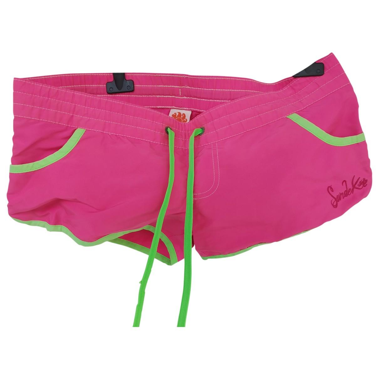 Sundek \N Shorts in  Rosa Polyester