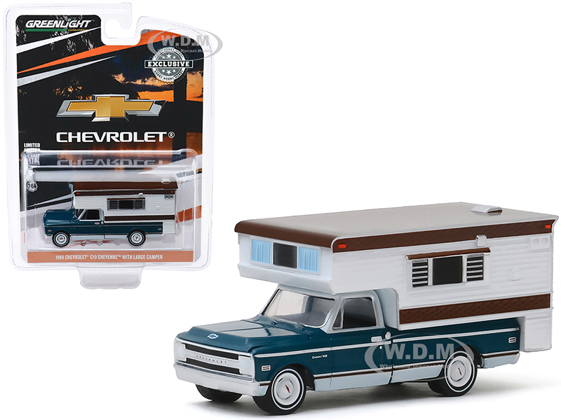 1969 Chevrolet C10 Cheyenne Pickup Truck with Large Camper