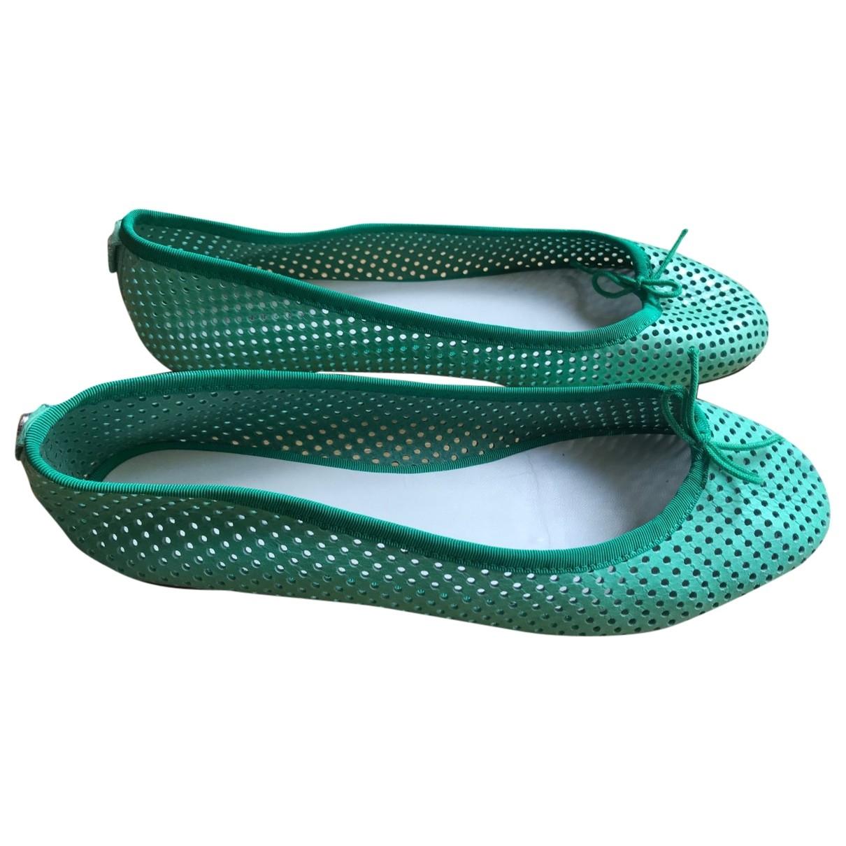 Bimba Y Lola \N Green Leather Ballet flats for Women 41 EU