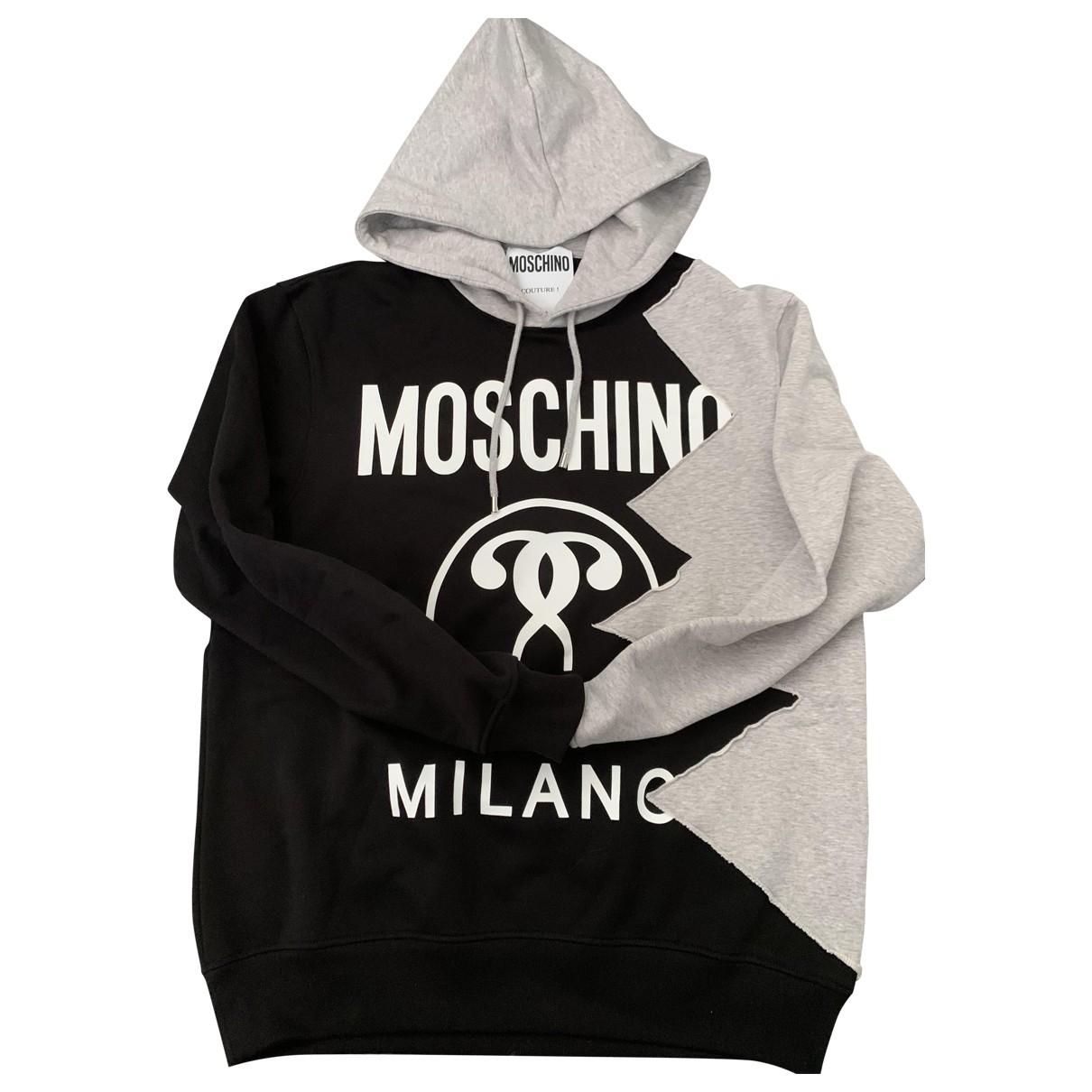 Moschino \N Pullover.Westen.Sweatshirts  in  Schwarz Baumwolle