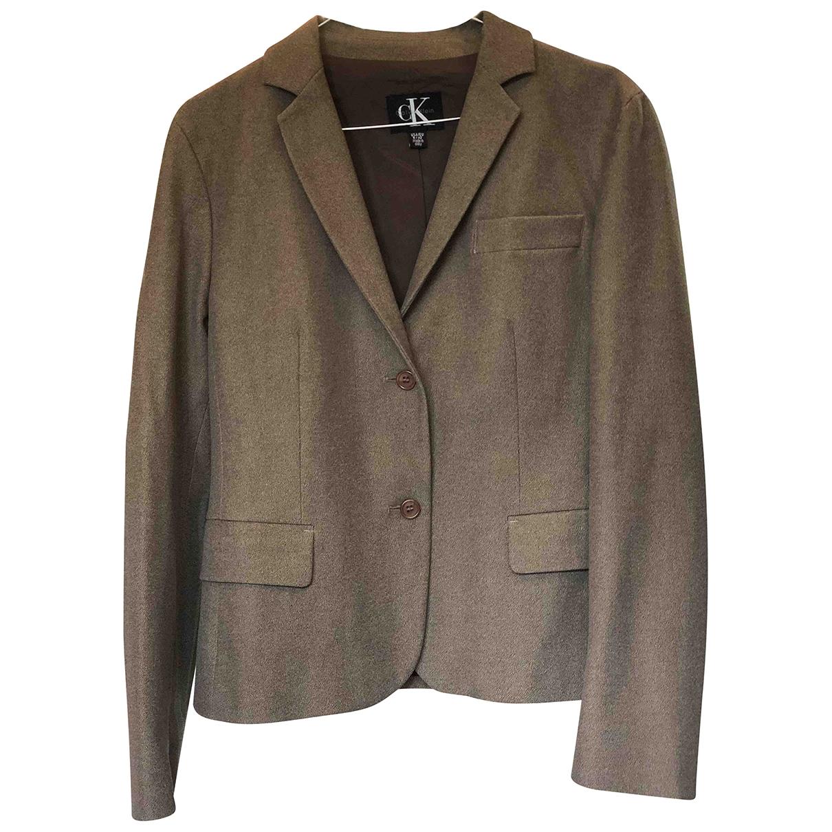 Calvin Klein \N Beige Cotton jacket for Women 42 IT