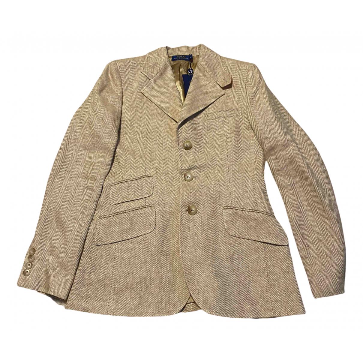 Polo Ralph Lauren - Veste   pour femme en lin - beige