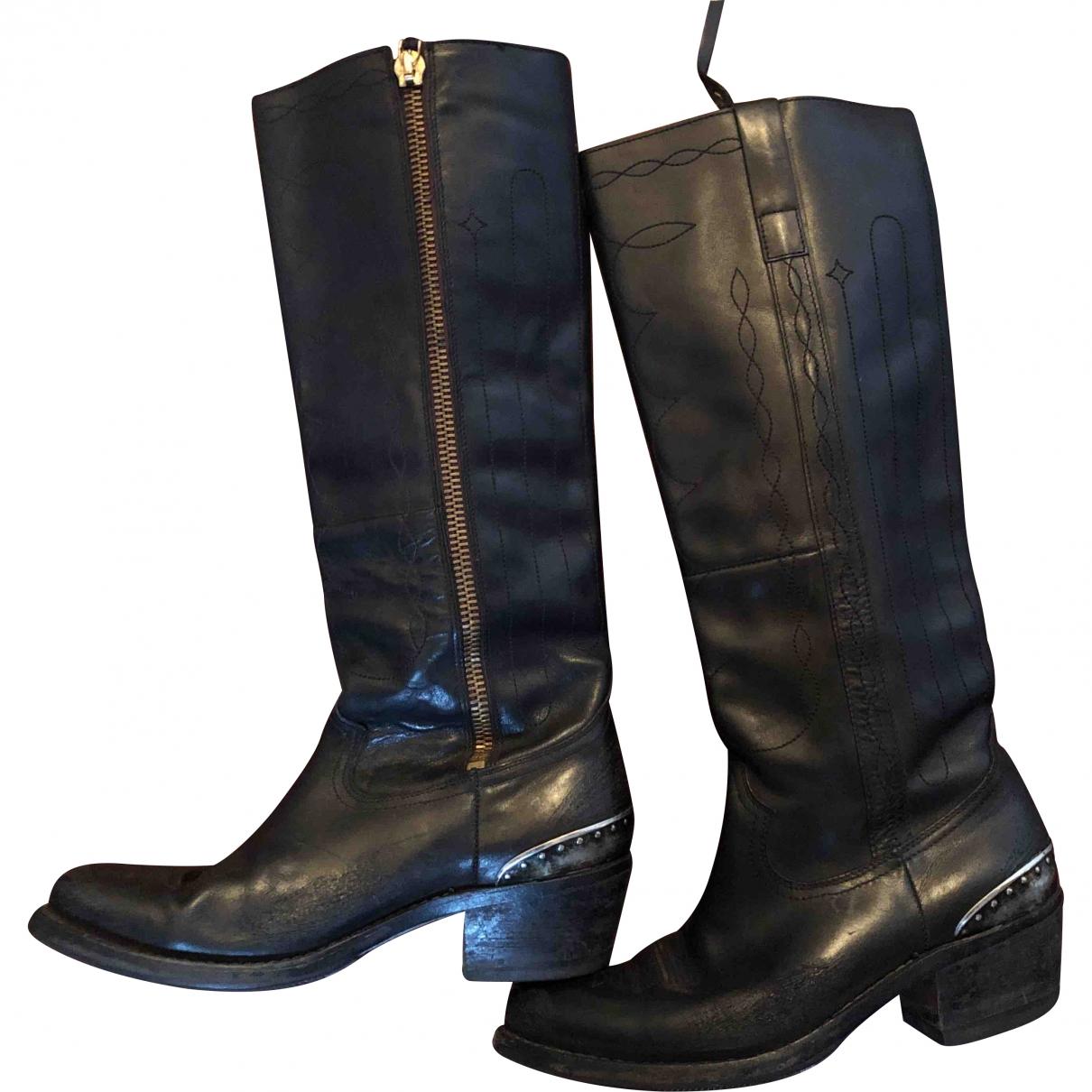 Golden Goose \N Black Leather Boots for Women 38 EU