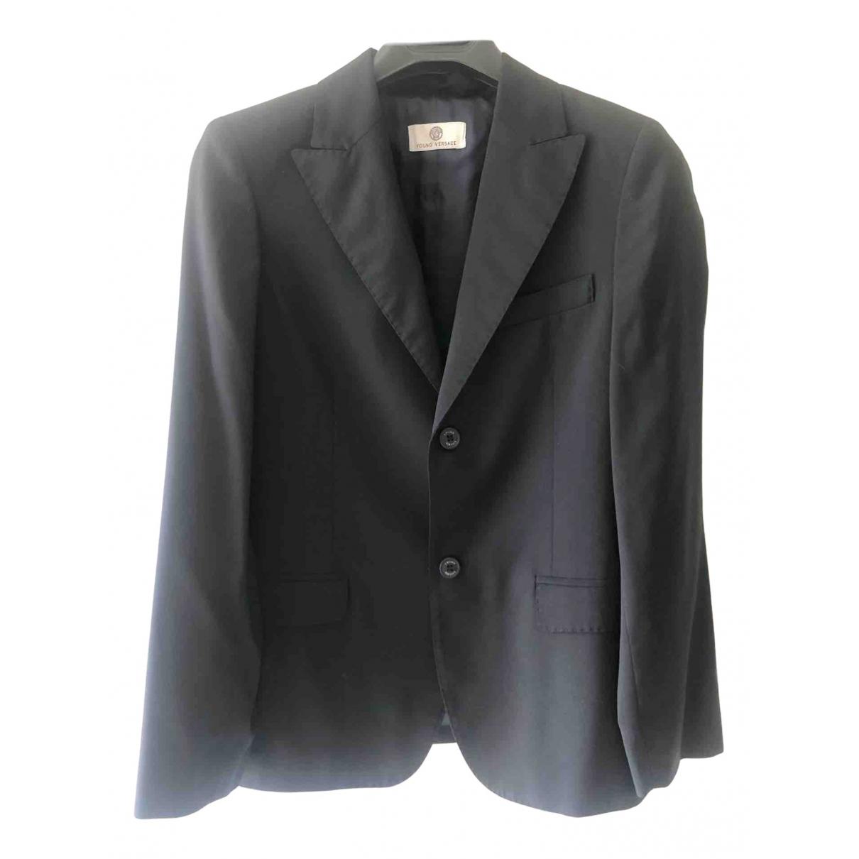 Versace \N Jacke, Maentel in  Grau Wolle