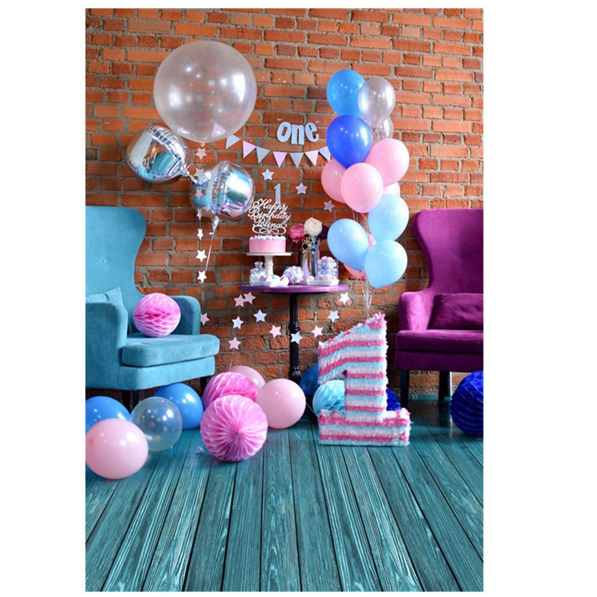 5x7ftSweet Birthday Scene Baby Photography Backgrounds Vinyl Photo Backdrops