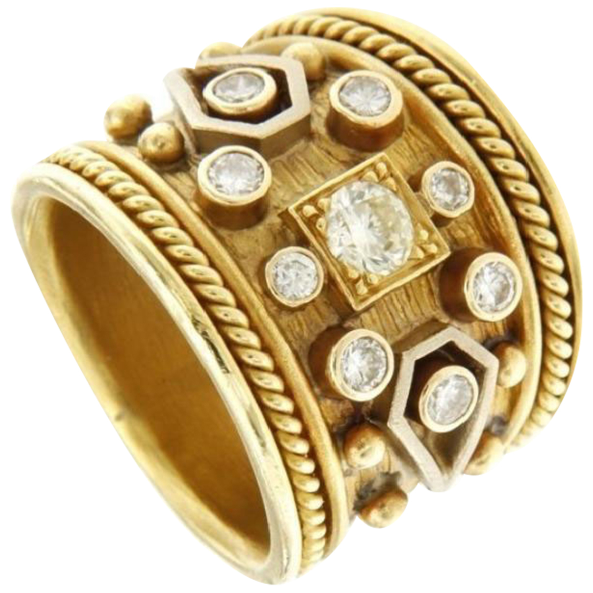 Non Signe / Unsigned Jonc Ring in  Gelb Gelbgold