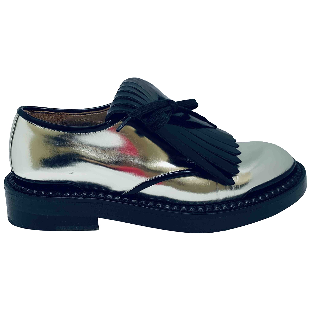 Marni \N Silver Patent leather Lace ups for Women 35 EU