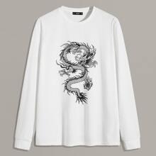 Camiseta de hombres con estampado de dragon