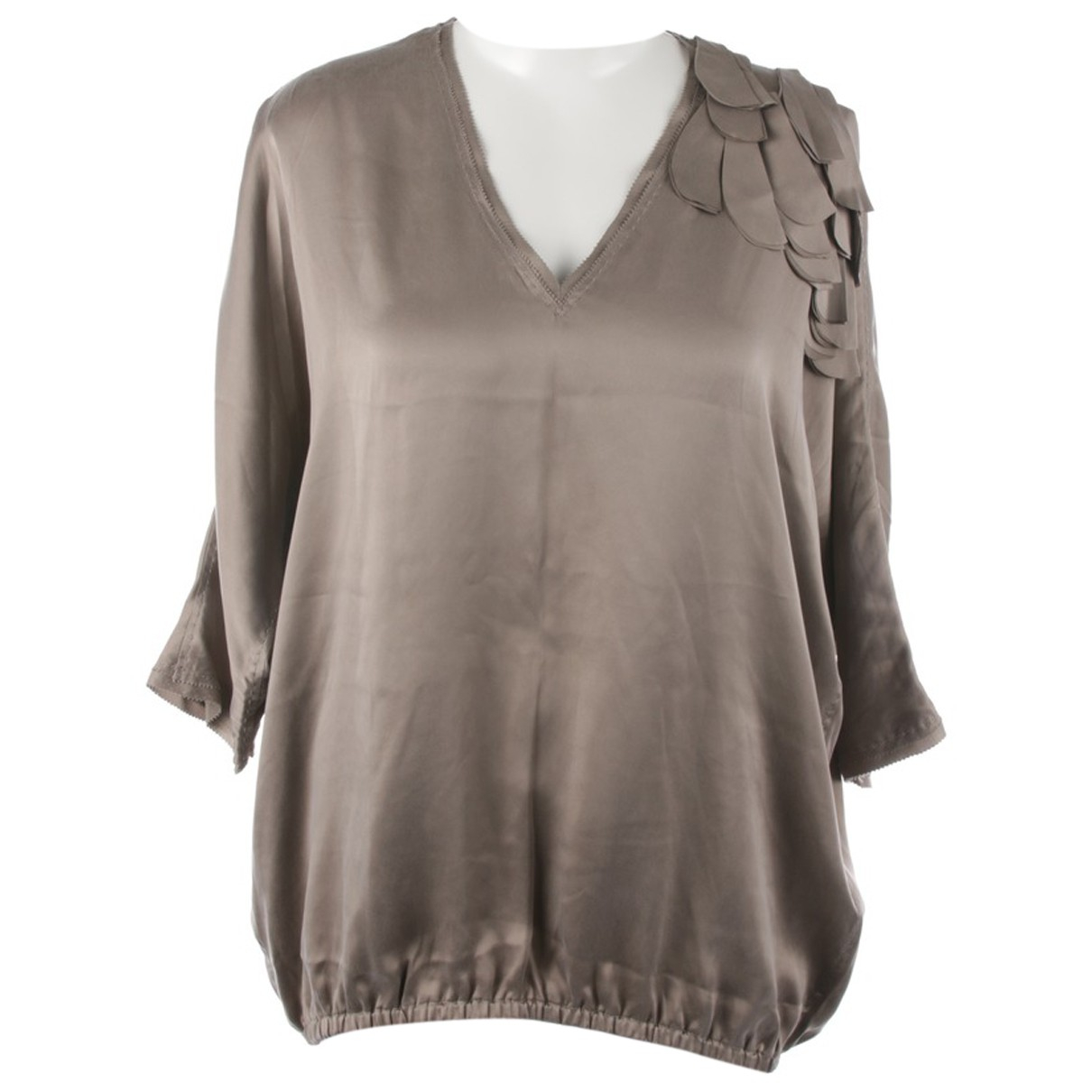 Marc Cain N Brown Silk  top for Women 38 IT
