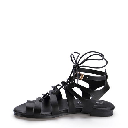Yoins Ankle Strap Lace Up Gladiator Sandals