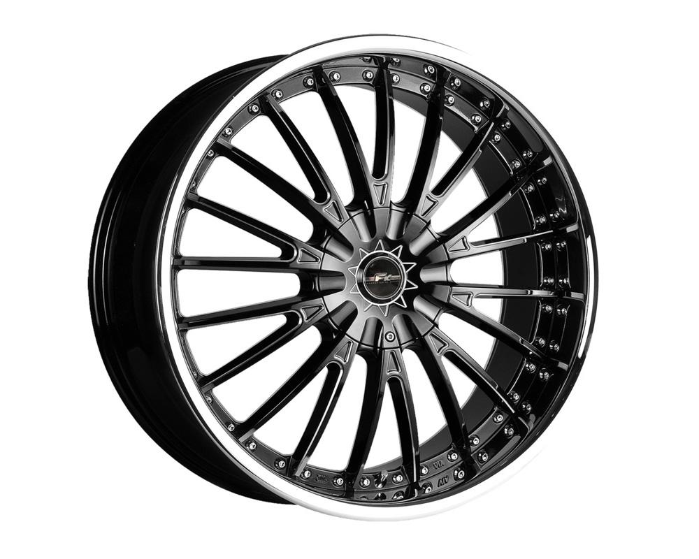 FK Ethos LXM1861008 LX-M Black Reverse CNC w/Chrome Lip Wheel 18x7.5 5x100/114.3 40