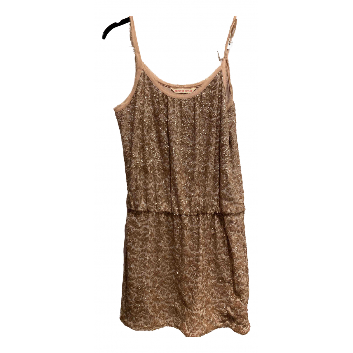 Rebecca Taylor N Gold Glitter dress for Women 8 US