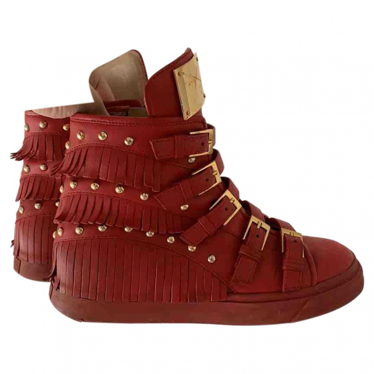 Giuseppe Zanotti \N Sneakers in  Rot Leder