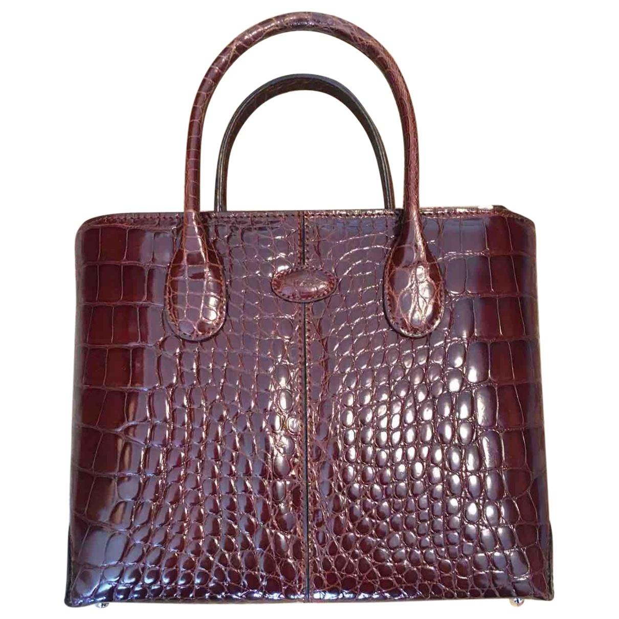 Tod's \N Brown Crocodile handbag for Women \N