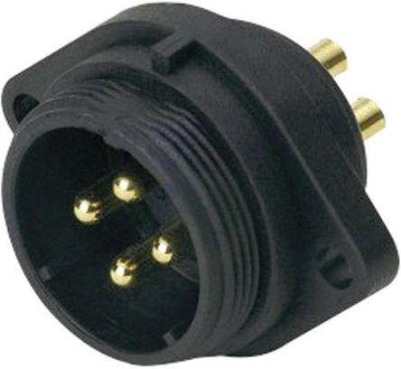 RS PRO Circular Connector, 5 contacts Flange Mount Socket, Solder IP68