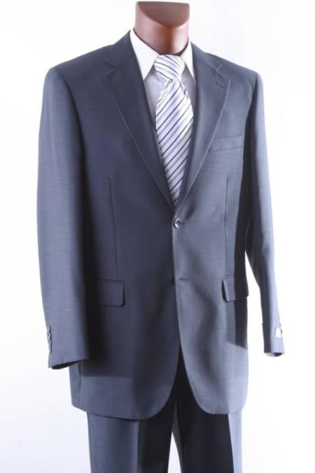 Mens 2 Button 1 Wool mid Suit Single Pleat Pant Mid Grey