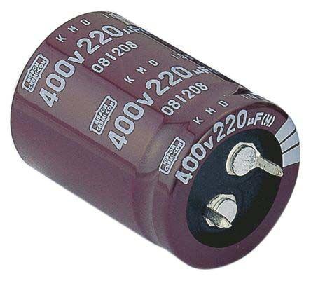 Nippon Chemi-Con 220μF Electrolytic Capacitor 400V dc, Through Hole - EKMQ401VSN221MP45S