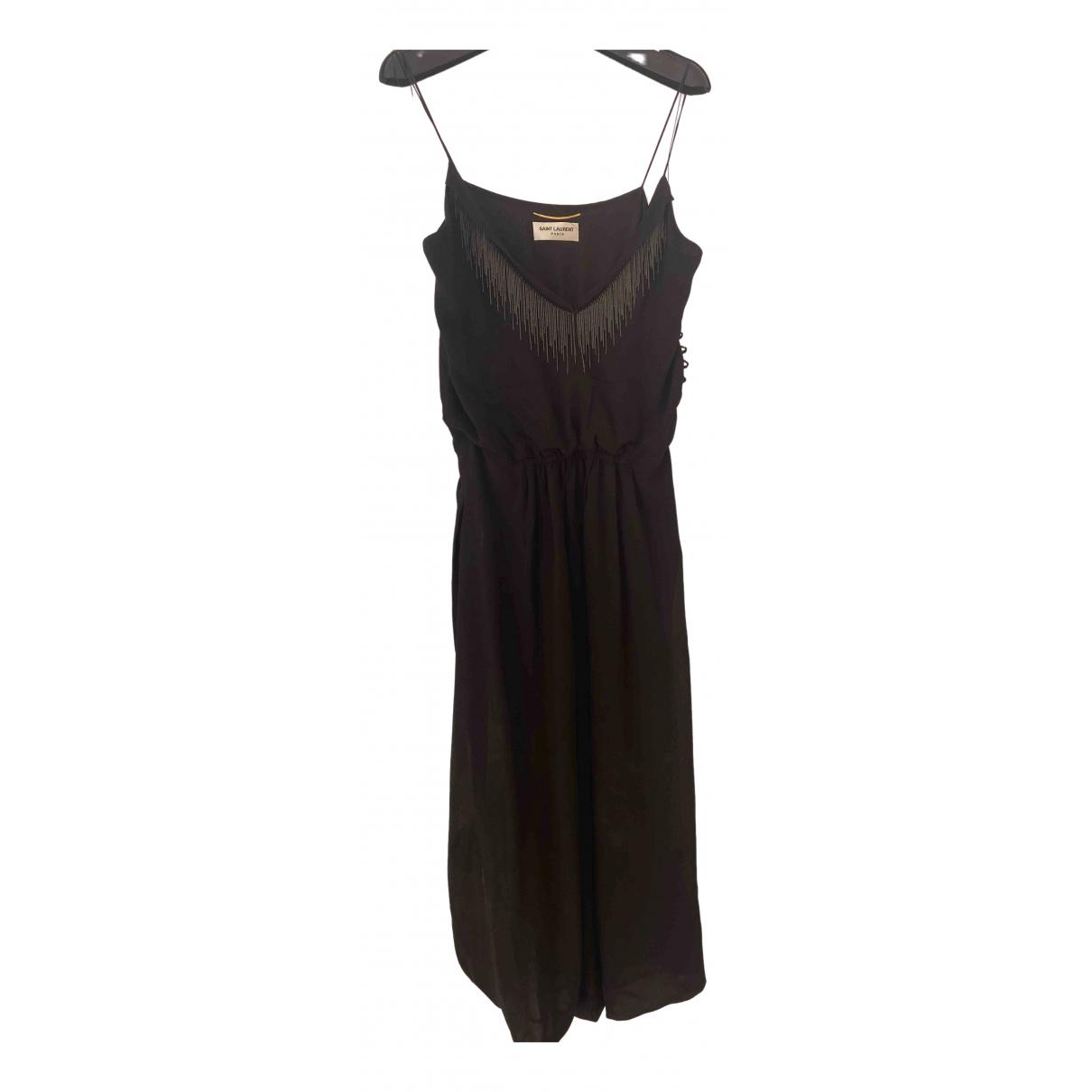 Vestido de Seda Saint Laurent