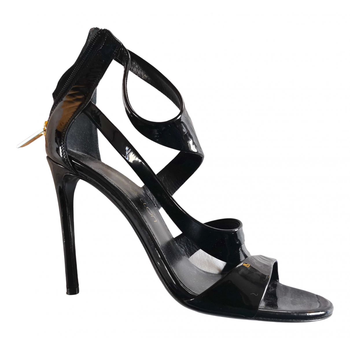 Tamara Mellon \N Black Patent leather Sandals for Women 37 EU