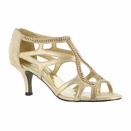Easy Street Womens Flattery Pumps Spike Heel, 9 Medium, Yellow