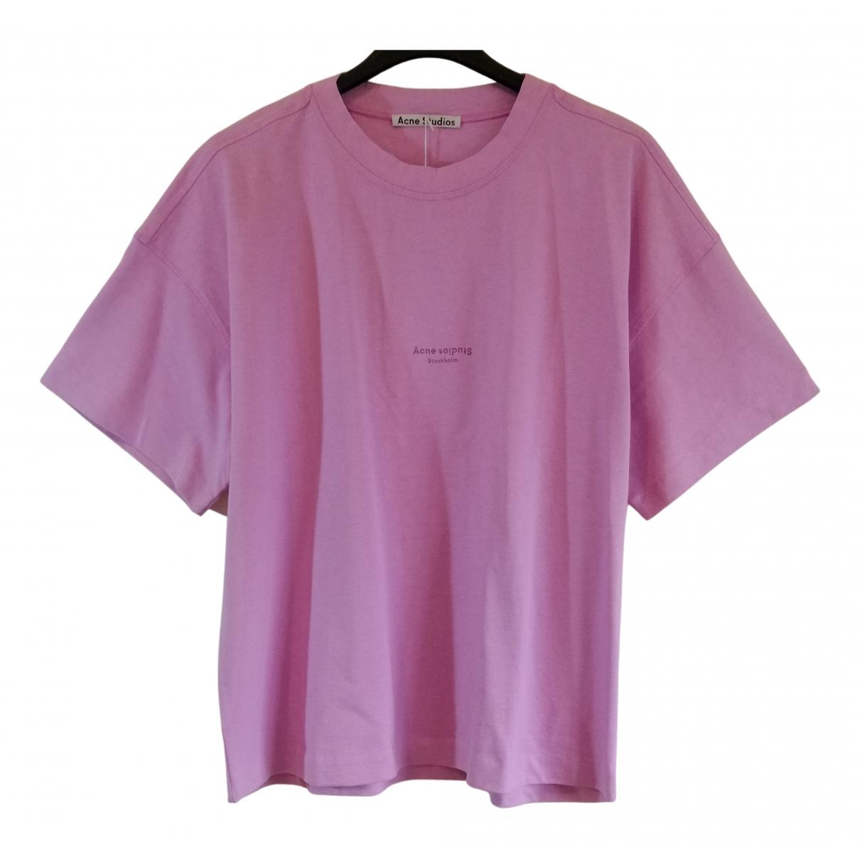 Acne Studios - Top   pour femme en coton - rose