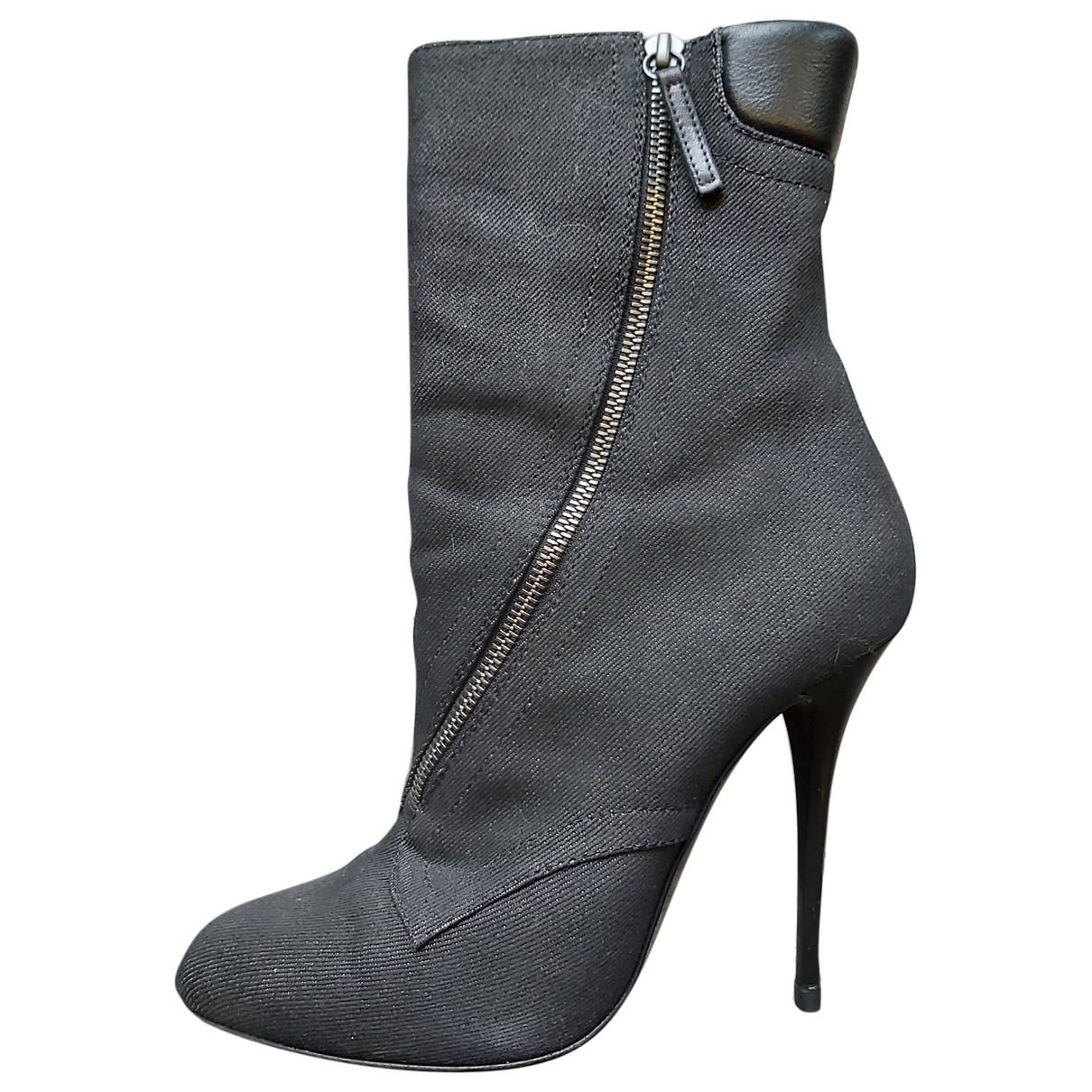 Giuseppe Zanotti - Boots   pour femme en toile - noir
