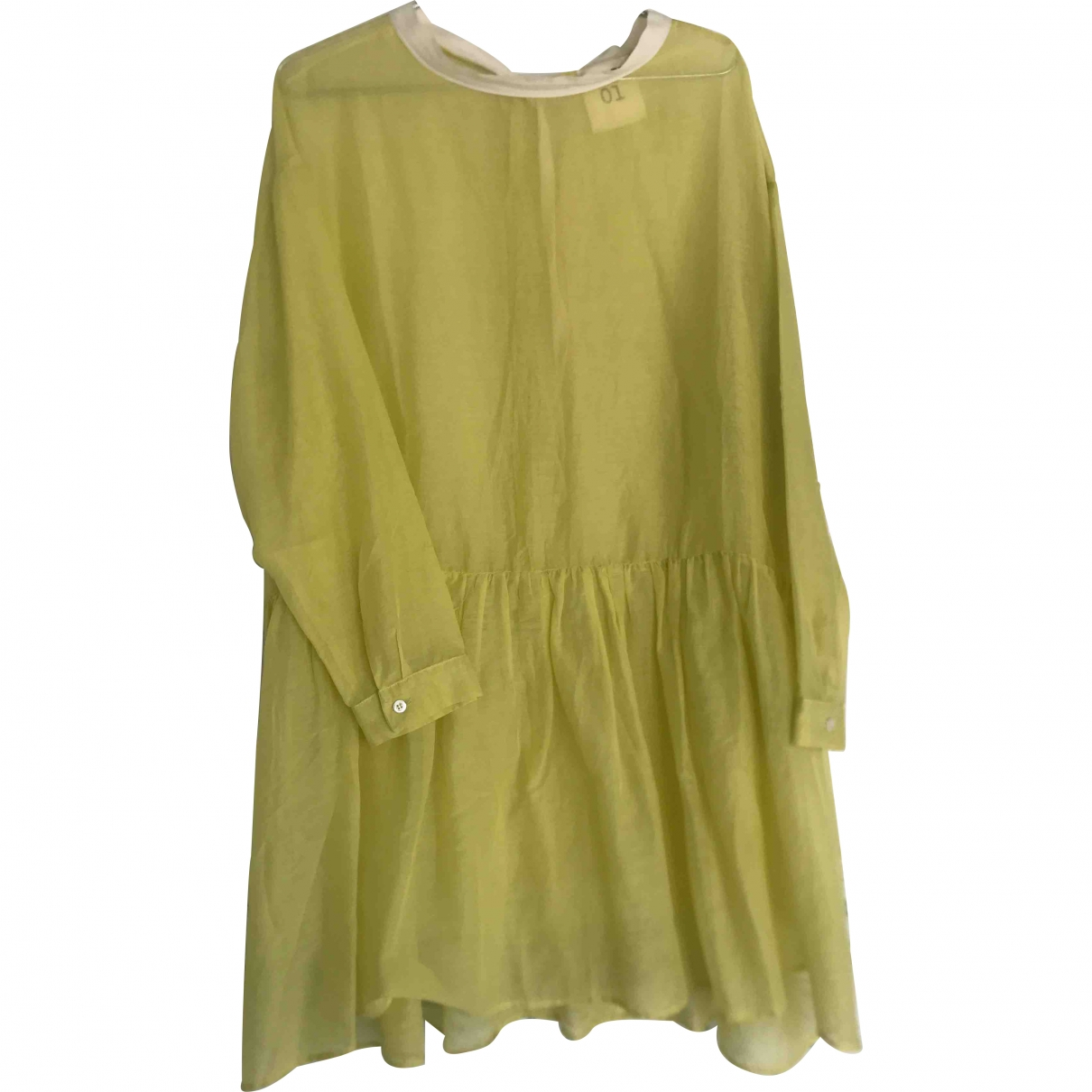 Semicouture \N Yellow Cotton dress for Women 42 IT