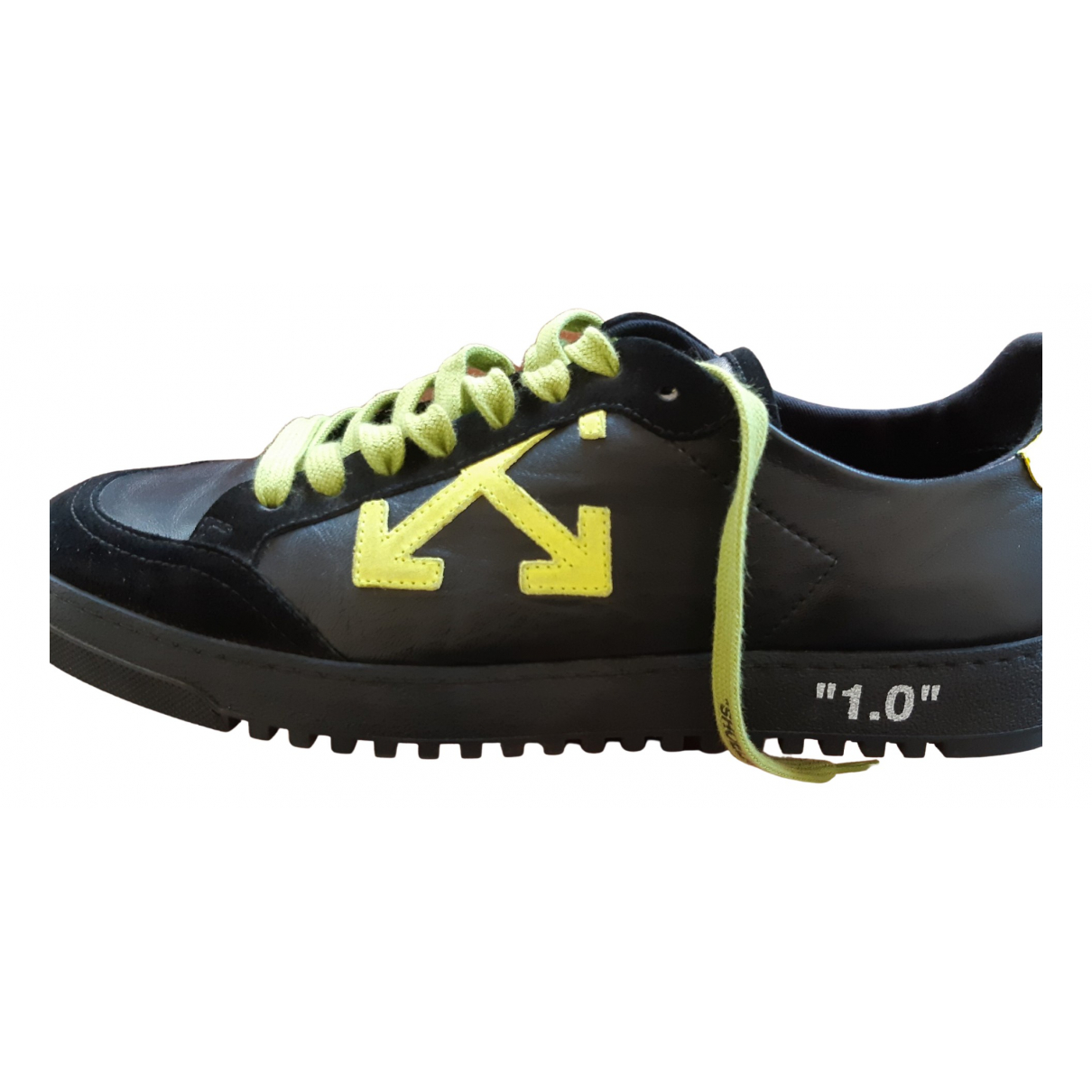 Off-white Low 2.0 Sneakers in  Schwarz Leder