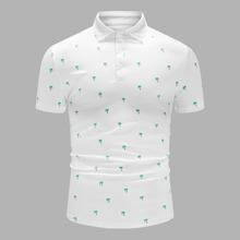 Men All Over Tropical Print Polo Shirt