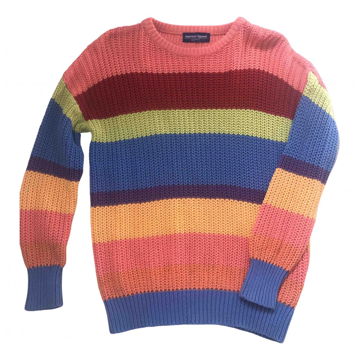 American Apparel - Pull   pour femme en coton - multicolore
