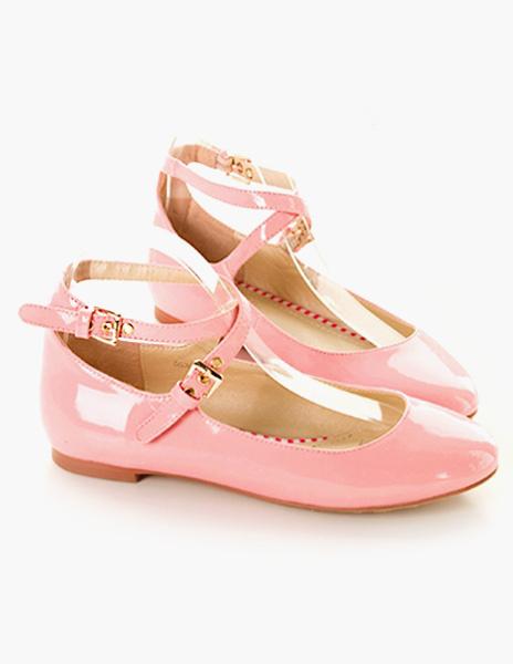 Milanoo Zapatos planos de mujer Ballet Flats negros con punta redonda cruzada