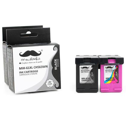 Compatible HP DeskJet 1510 Ink Cartridges Black & Color High Yield - Moustache