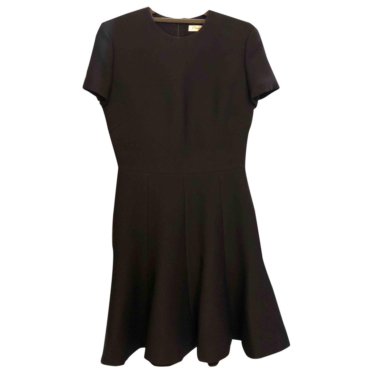 Christian Dior \N Kleid in  Schwarz Wolle