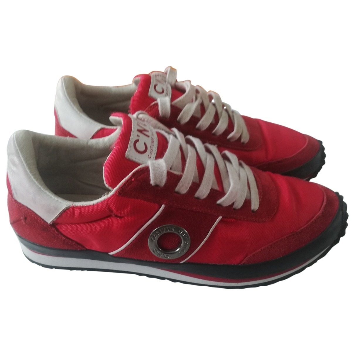 Costume National \N Sneakers in  Rot Leinen