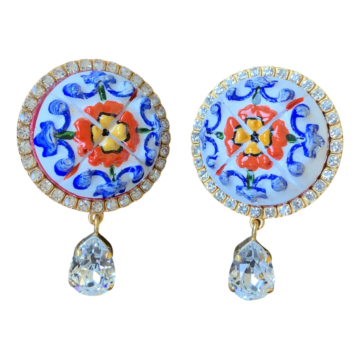 Dolce & Gabbana - Boucles doreilles   pour femme en ceramique - multicolore