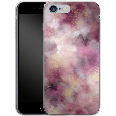 Apple iPhone 6s Plus Silikon Handyhuelle - Smoky Marble Watercolor Pink von Ninola Design